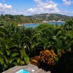 La vue depuis le haut de villa