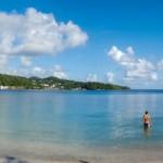 La plage des Raisiniers en vue panoramique