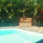 La piscine et le deck