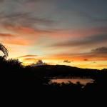 Coucher de soleil vu depuis la villa
